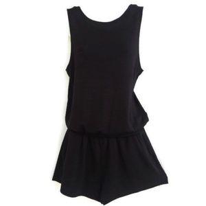Wilfred Free Black Romper Luxe Jersey Knit Drape S